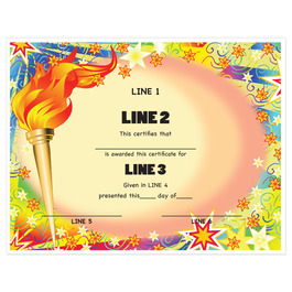 Custom Award Certificates - Torch Design