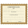 Stock Certificates - Classic Gold Design
