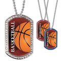 Full Color Basketball GEM Dog Tags