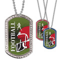 Full Color Football Helmet GEM Dog Tags