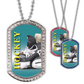 Full Color Hockey Skates GEM Dog Tags