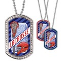 Full Color Lacrosse Helmet GEM Dog Tags