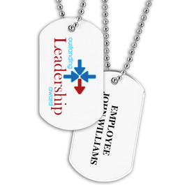 Dog Tag w/ Stock Designs & Print on Back