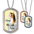 Full Color GEM Clean Pony Dog Tag
