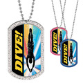 Full Color GEM Swim Dive Dog Tag