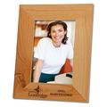 Red Alder Engraved Wooden Frame