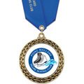 Custom GFL Award Medal w/ Satin Neck Ribbon