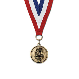 CX Award Medal w/ Red/White/Blue or Year Grosgrain Neck Ribbon