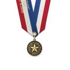 CX Award Medal w/ Specialty Satin Neck Ribbon