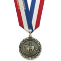 HBX Award Medal w/ Specialty Satin Neck Ribbon