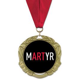XBX Award Medal w/ Grosgrain Neck Ribbon