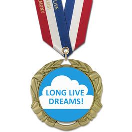 XBX Award Medal w/ Specialty Satin Neck Ribbon