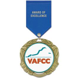 XBX Award Medal w/ Satin Drape Ribbon