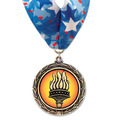 LXC Color Fill Award Medal w/ Millennium Neck Ribbon