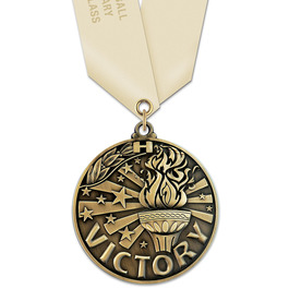 WC Winner's Circle Award Medal w/ Satin Neck Ribbon