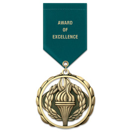 ES Award Medal w/ Satin Drape Ribbon