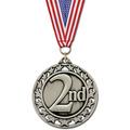 Star Medal w/ Red/White/Blue or Flag Grosgrain Neck Ribbon