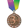 Star Medal w/ Specialty Satin Neck Ribbon