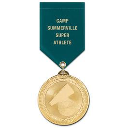 BL Award Medal w/ Satin Drape Ribbon