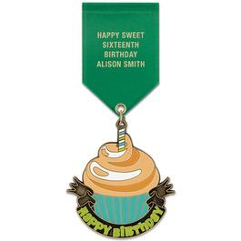 Superstar Award Medal w/ Satin Drape Ribbon