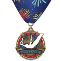 Superstar Award Medal w/ Custom Millennium Neck Ribbon