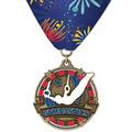 Superstar Award Medal w/ Custom Millennium Neck Ribbon