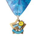 XSC Color Fill Star Award Medal w/ Millennium Neck Ribbon