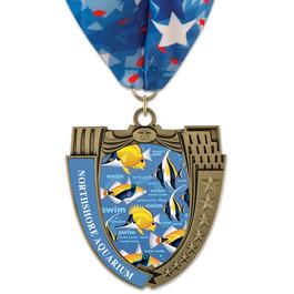 MS14 Mega Shield Award Medal w/ Millennium Neck Ribbon