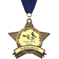 AS14 All Star Award Medals w/ Grosgrain Neck Ribbon