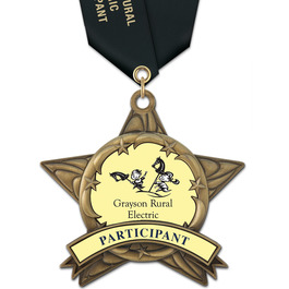 AS14 All Star Award Medals w/ Satin Neck Ribbon