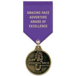 HL Award Medal w/ Satin Drape Ribbon