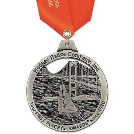 HH Award Medal w/ Satin Neck Ribbon