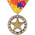 Rising Star Award Medal w/ Custom Millennium Neck Ribbon