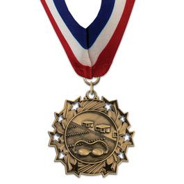 Ten Star Award Medal with Millennium Neck Ribbon