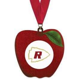 Birchwood Apple Award Medal w/ Grosgrain Neck Ribbon