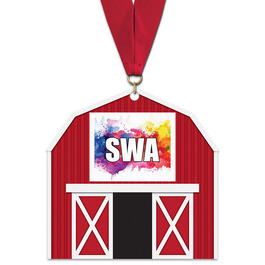 Birchwood Barn Award Medal w/ Grosgrain Neck Ribbon