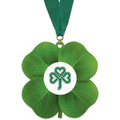 Clover Shape Birchwood Award Medal w/ Grosgrain Neck Ribbon