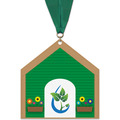 Birchwood Dog House Award Medal w/ Grosgrain Neck Ribbon