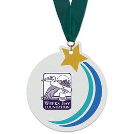 Birchwood Rising Star Award Medal w/ Grosgrain Neck Ribbon
