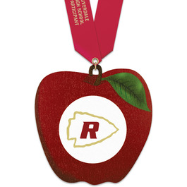 Birchwood Apple Award Medal w/ Satin Neck Ribbon