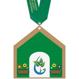 Birchwood Dog House Award Medal w/ Satin Neck Ribbon