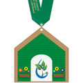 Birchwood Dog House Award Medal w/ Satin Neck Ribbon