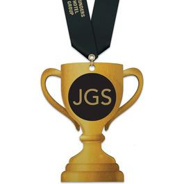 Birchwood Loving Cup Award Medal w/ Satin Neck Ribbon
