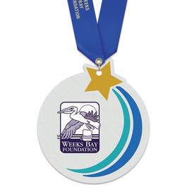 Birchwood Rising Star Award Medal w/ Satin Neck Ribbon