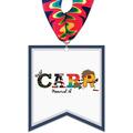 Pennant Shape Birchwood Award Medal w/ Millennium Neck Ribbon