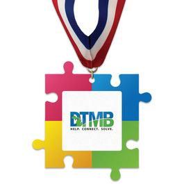 Birchwood Puzzle Pieces Award Medal w/ Millennium Neck Ribbon