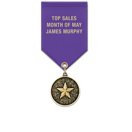 CX Award Medal w/ Satin Drape Ribbon