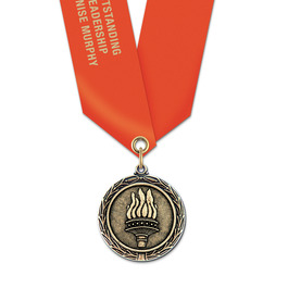 MX Award Medal w/ Satin Neck Ribbon