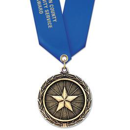 LX Award Medal w/ Satin Neck Ribbon