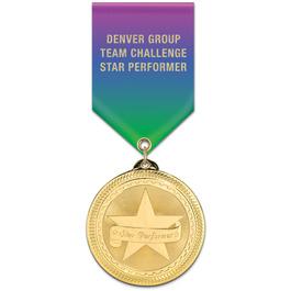 BL Award Medal w/ Specialty Satin Drape Ribbon